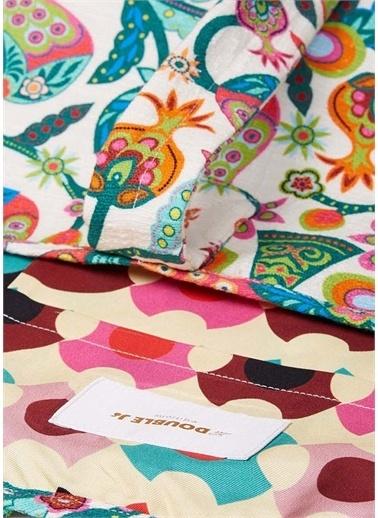 La Doublej La Doublej Desenli Renkli Kadın Plaj Çantası Renkli